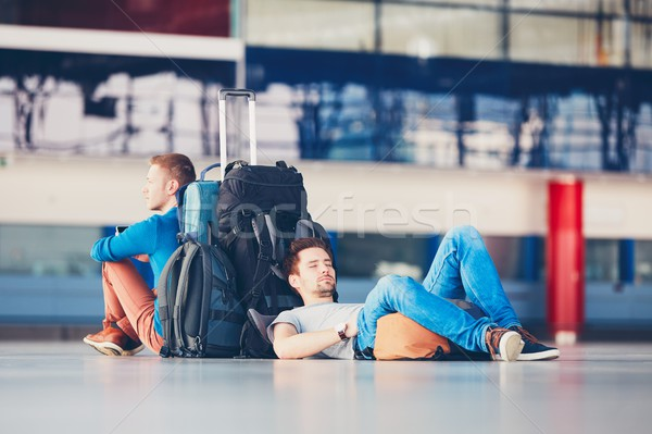 Travelers waiting for departure Stock photo © Chalabala