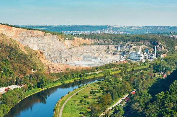 Yüzey mayın manzara taş madencilik Çek Stok fotoğraf © Chalabala