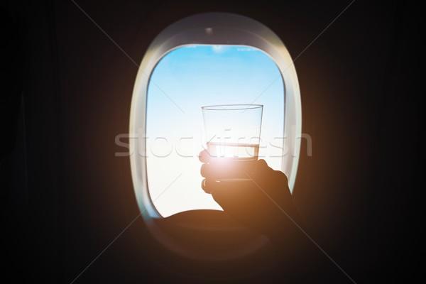 Içmek uçuş rahat uçak Stok fotoğraf © Chalabala