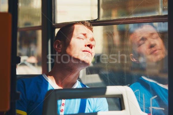 Traveling by public transport Stock photo © Chalabala