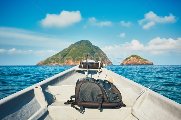 Macera deniz motorbot yolculuk doğa Stok fotoğraf © Chalabala