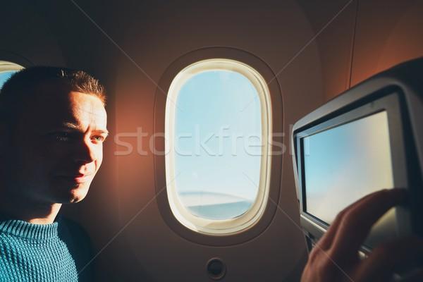 самолет удобный молодые путешествия Сток-фото © Chalabala