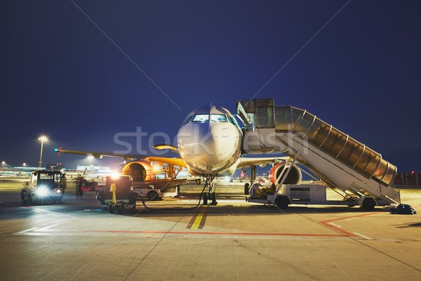 Airport in the night Stock photo © Chalabala