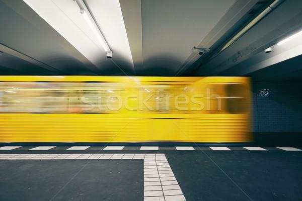 Trafik metro tren yeraltı istasyon Stok fotoğraf © Chalabala
