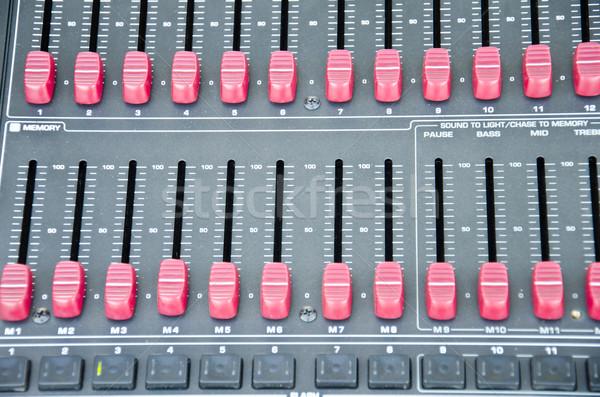 Dźwięku projektu streszczenie biurko grać Zdjęcia stock © chatchai