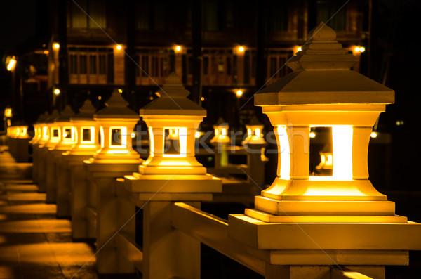 Oświetlenie korytarz świetle czarny energii Zdjęcia stock © chatchai