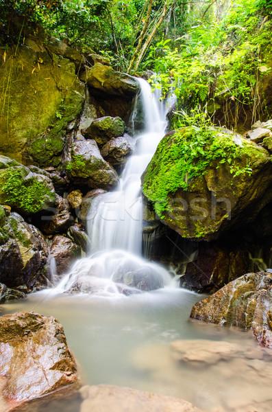 Wodospad głęboko lasu wody krajobraz rzeki Zdjęcia stock © chatchai