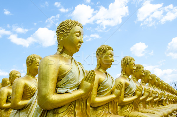 Buda heykel yer kamu ibadet Tayland Stok fotoğraf © chatchai
