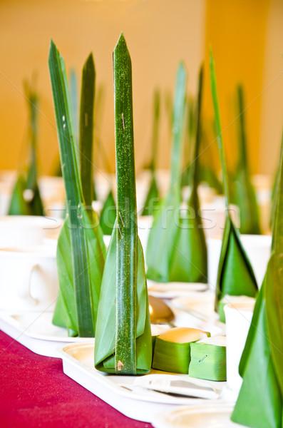 Tajlandia tradycyjny deser mąka Kokosowe Zdjęcia stock © chatchai