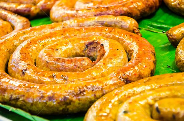 Noordelijk thai gekruid worst thais eten voedsel Stockfoto © chatchai