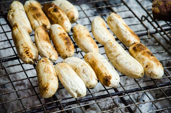 Muz tost Taylandlı tatlı gıda gıda meyve Stok fotoğraf © chatchai