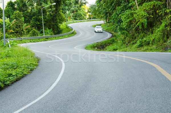 Drogowego górskich kraju samochodu drewna lasu Zdjęcia stock © chatchai