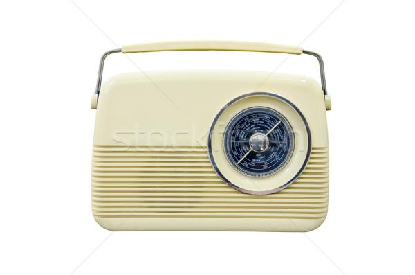 Antyczne radio biały działalności technologii komunikacji Zdjęcia stock © chatchai