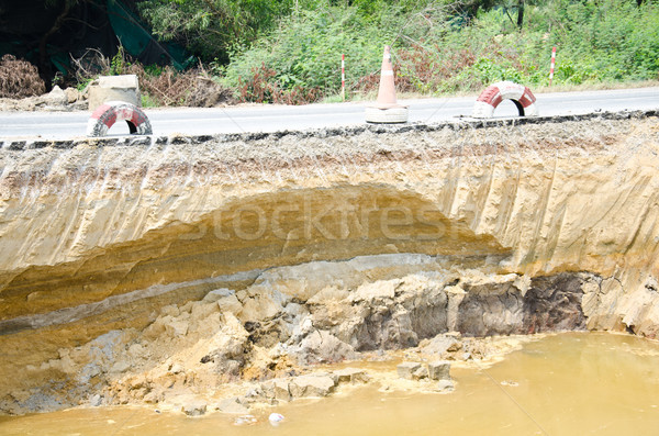 Asphalt road amaged Stock photo © chatchai
