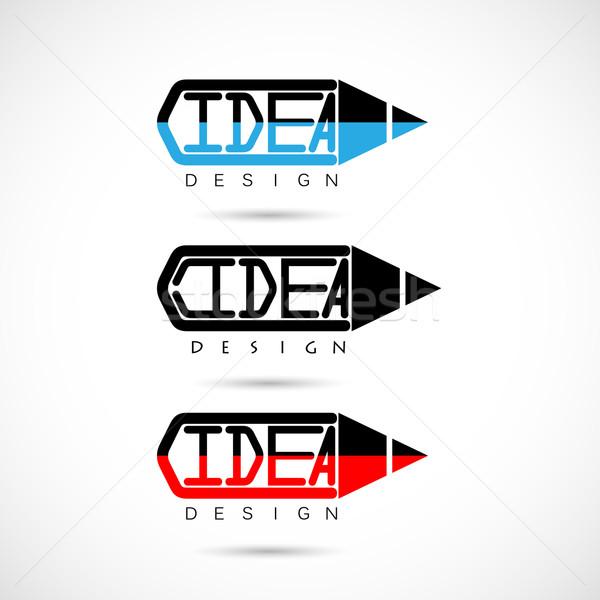Criador lápis logotipo idéias inspiração inovação Foto stock © chatchai5172