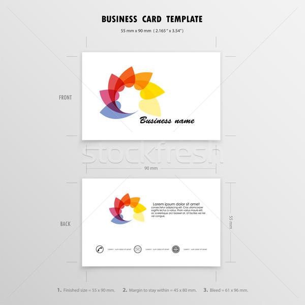 Soyut yaratıcı tasarım şablonu ad kartları Stok fotoğraf © chatchai5172