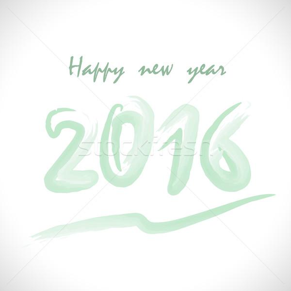 Feliz año nuevo fiesta anunciante saludo tarjeta Foto stock © chatchai5172