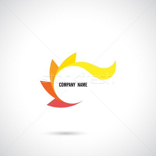 Yaratıcı soyut vektör logo tasarımı şablon arka plan Stok fotoğraf © chatchai5172
