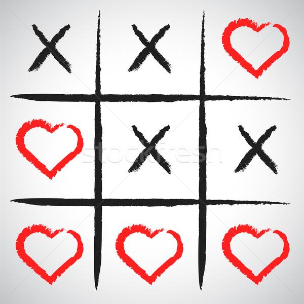 Simples jogo dia dos namorados negócio atravessar Foto stock © chatchai5172