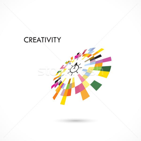Criador círculo abstrato vetor design de logotipo modelo Foto stock © chatchai5172