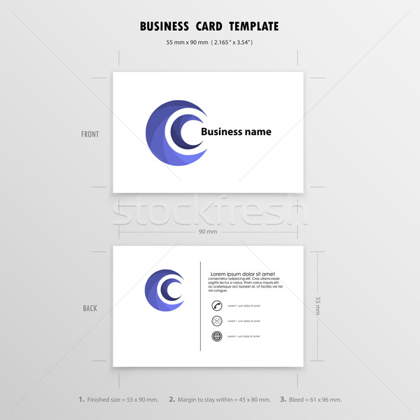 Abstract Creative Business Cards Design Template. Name Cards Sym Stock photo © chatchai5172