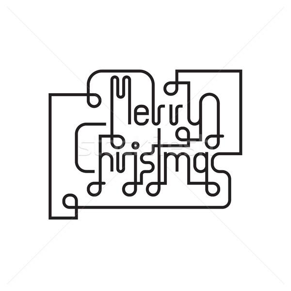 Alegre Navidad icono resumen citar postal Foto stock © chatchai5172