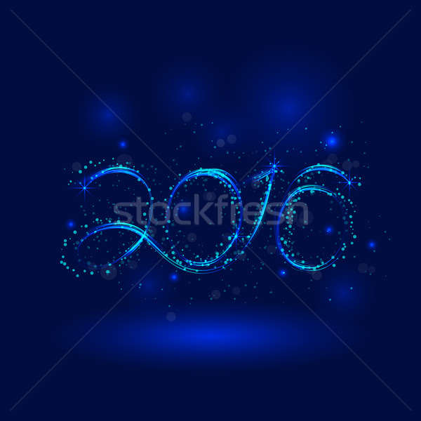 Feliz año nuevo tarjeta ilustración vacaciones diseno fiesta Foto stock © chatchai5172