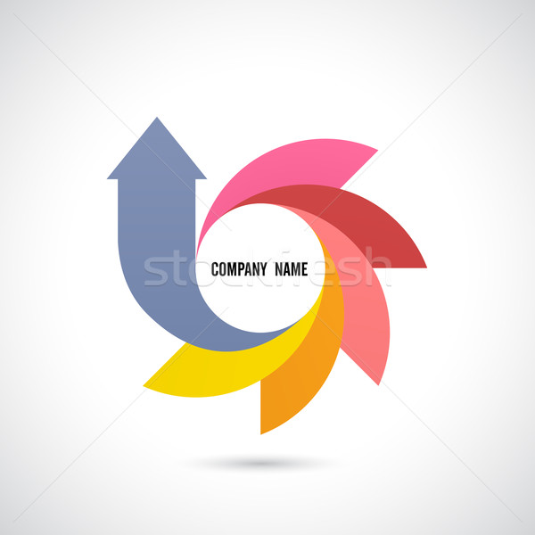 Criador abstrato vetor design de logotipo modelo negócio Foto stock © chatchai5172