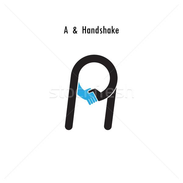 Creative A-letter icon abstract logo design vector template.Busi Stock photo © chatchai5172