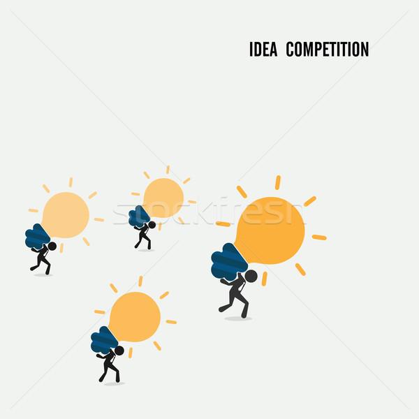 Idéia competição negócio desenho animado símbolo abstrato Foto stock © chatchai5172