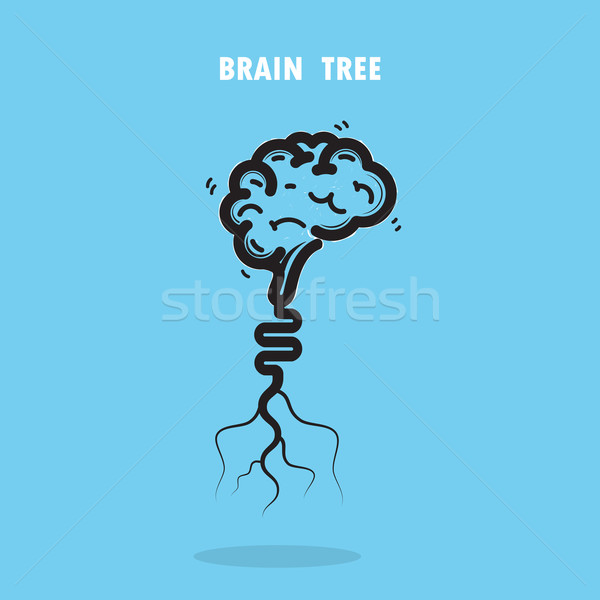 Creative brain tree abstract vector logo design.Corporate busine Stock photo © chatchai5172