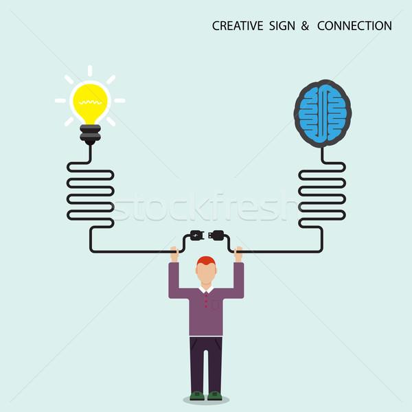 Empresário financiar criador cérebro símbolo Foto stock © chatchai5172