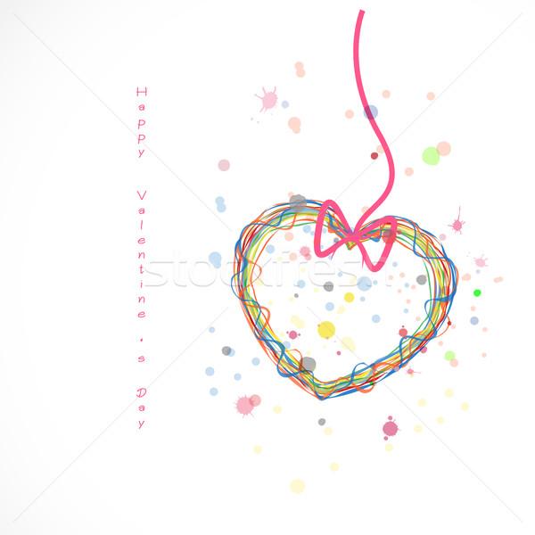 Feliz día de san valentín 2016 San Valentín tipográfico adornos Foto stock © chatchai5172