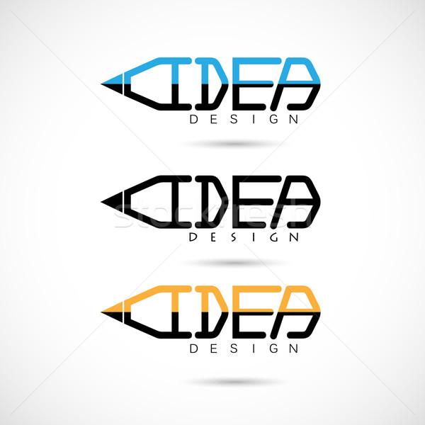 Yaratıcı kalem logo fikirler ilham yenilik Stok fotoğraf © chatchai5172