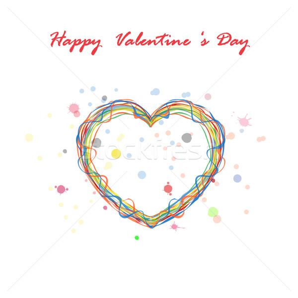 Feliz dia dos namorados corações Foto stock © chatchai5172