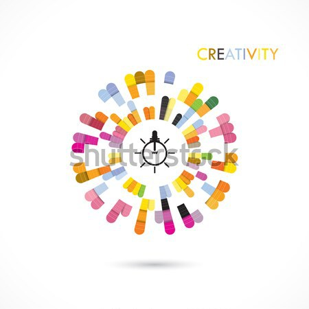 Creatieve cirkel abstract vector logo-ontwerp sjabloon Stockfoto © chatchai5172