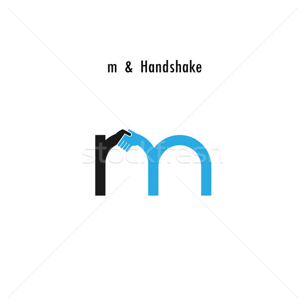 Creative M- letter icon abstract logo design vector template.Bus Stock photo © chatchai5172