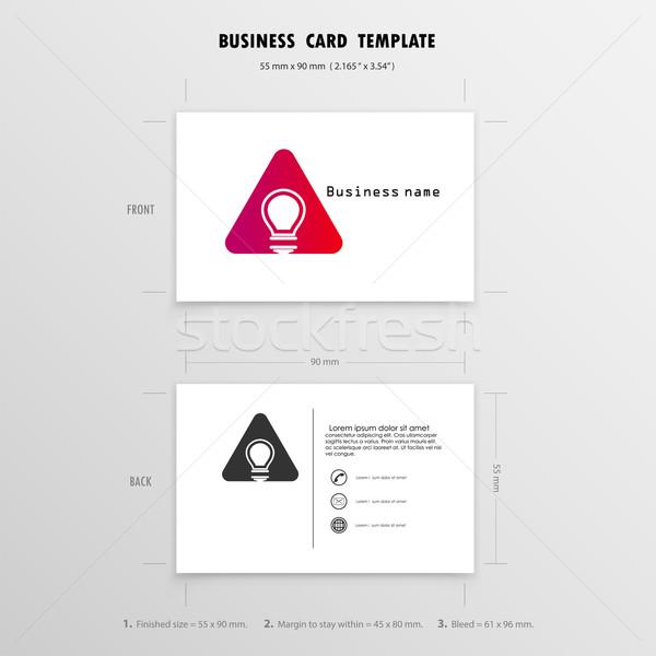 Abstrato criador modelo de design nome cartões Foto stock © chatchai5172
