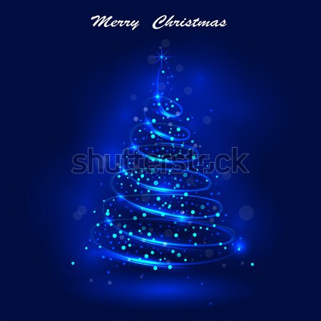Brilhante árvore de natal magia natal ano novo alegre Foto stock © chatchai5172