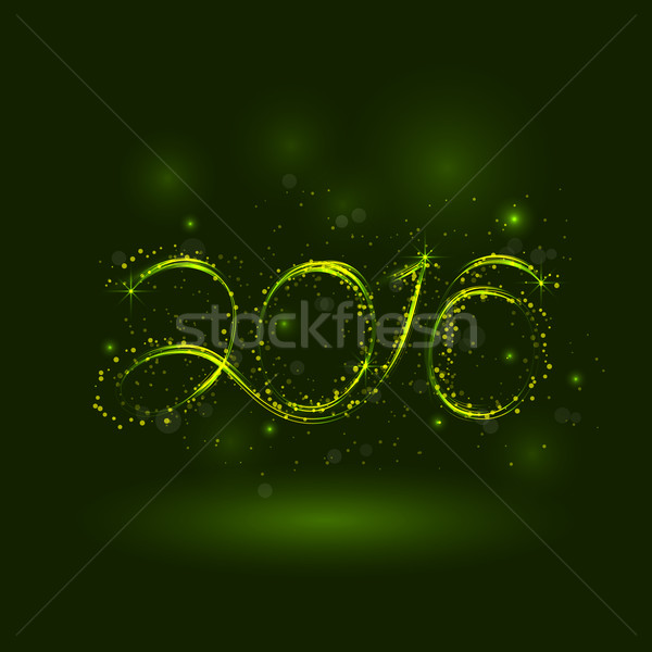 Happy New Year 2016.Greeting card design.Vector illustration for Stock photo © chatchai5172