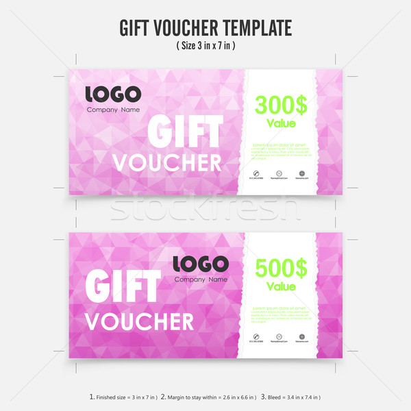 Gift voucher background or certificate coupon template with clea Stock photo © chatchai5172