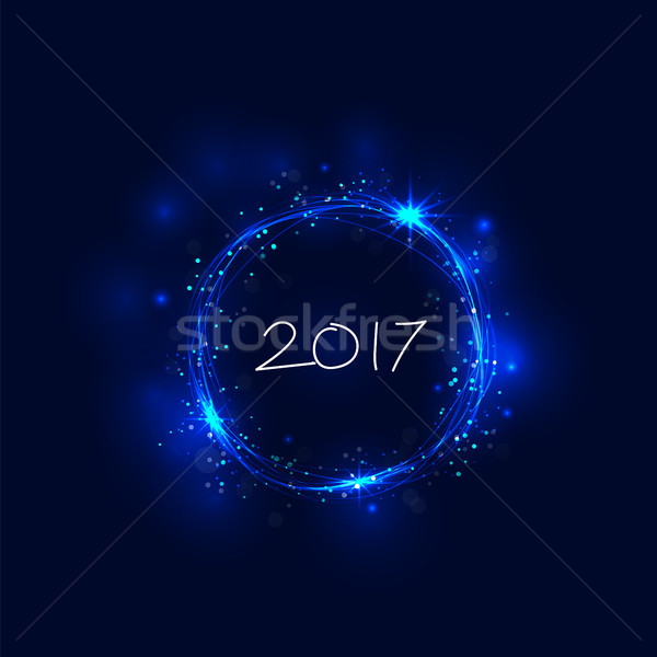 Happy new year 2017 holiday background.2017 Happy New Year greet Stock photo © chatchai5172