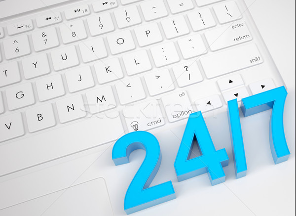 Text 24/7 on the keyboard Stock photo © cherezoff