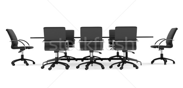 Business conference table with chairs. Isolated Stock photo © cherezoff