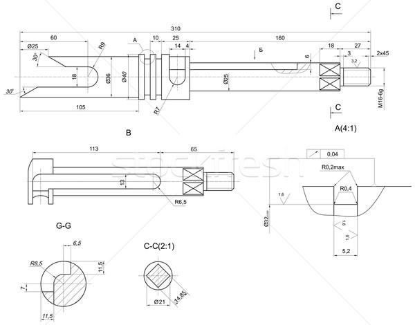 Schets verschillend engineering communie tekening lijnen Stockfoto © cherezoff
