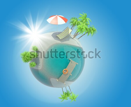Earth in humans hands Stock photo © cherezoff