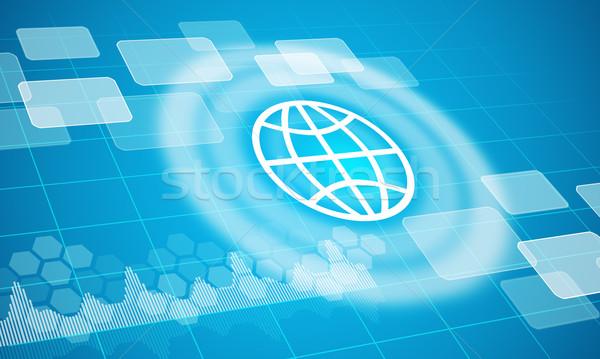Globe symbol with circles Stock photo © cherezoff
