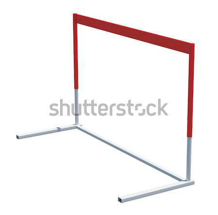 Treadmill barrier on white Stock photo © cherezoff