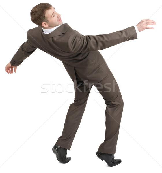 Businessman almost falling back Stock photo © cherezoff