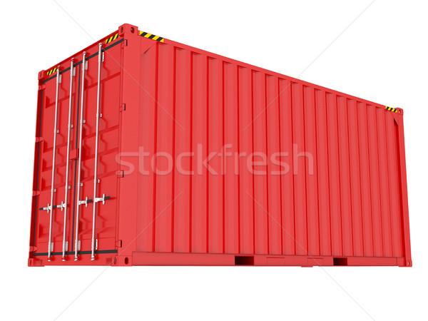 Azul envío contenedor 3D rojo Foto stock © cherezoff